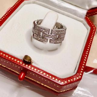 カルティエ(Cartier)のカルティエ マイヨンパンテール 3ロウ ダイヤモンドリング WG /49(リング(指輪))