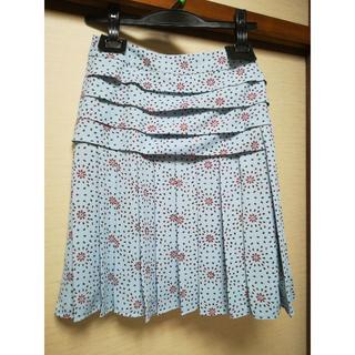 ケンゾー(KENZO)の美品KENZO プリーツスカート(ひざ丈スカート)
