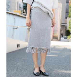 アメリヴィンテージ(Ameri VINTAGE)のアメリヴィンテージ    ニットスカート  美品(ひざ丈スカート)
