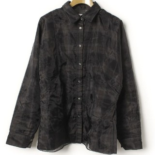 ハレ(HARE)のsale‼️《新品同様》HARE/ハレ★ナイロン×綿 二重構造のシャツ(シャツ/ブラウス(長袖/七分))