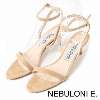 ドゥーズィエムクラス(DEUXIEME CLASSE)の 【NEBULONI E.】アンクルストラップサンダル ベージュ 35.5(サンダル)