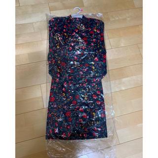 シマムラ(しまむら)の新品 帯付き 浴衣 花柄 小花柄 フラワー  ネイビー 女の子 110 (甚平/浴衣)