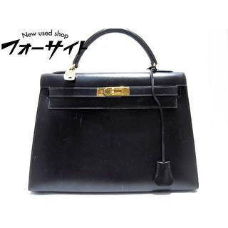 エルメス(Hermes)のエルメス☆ケリー32 外縫い 〇にw刻印 ハンドバッグ ブラック(ハンドバッグ)