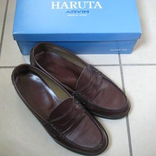 ハルタ(HARUTA)のHARUTA ハルタ ローファー こげ茶 24.5EE 中古(ローファー/革靴)