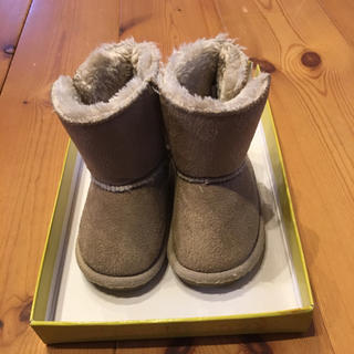 ムートンブーツ ベージュ 14cm(ブーツ)