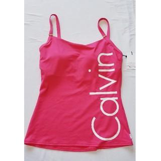 カルバンクライン(Calvin Klein)のカルバンクラインCalvin Kleinローズピンク♪パット付き水着キャミソール(水着)