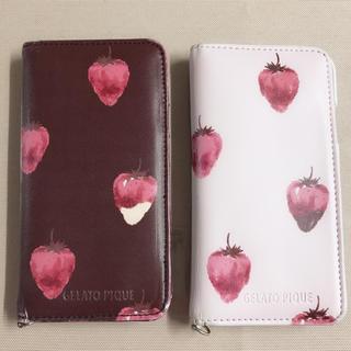 ジェラートピケ(gelato pique)の【2点セット】ジェラートピケ ストロベリーチョコ iPhoneケース (iPhoneケース)