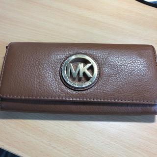 マイケルコース(Michael Kors)のマイケルコース MK ブラウン 財布 長財布(長財布)