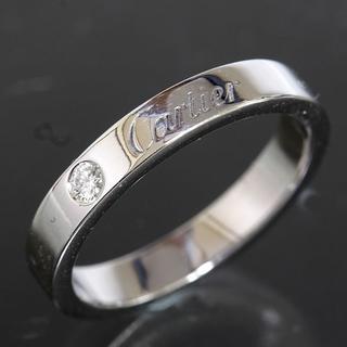 カルティエ(Cartier)のカルティエ cartier エングレーブド ダイヤリング size49 ギャラ(リング(指輪))