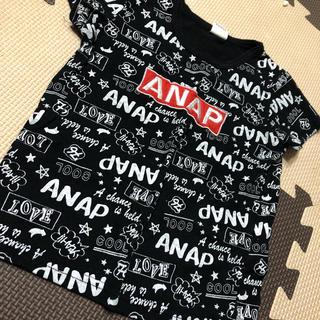 アナップキッズ(ANAP Kids)のアナップ 総柄 半袖 Tシャツ 100(Tシャツ/カットソー)