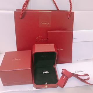 カルティエ(Cartier)のカルティエ マイヨンパンテール ハーフダイヤ リング(リング(指輪))