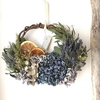mam...様専用  3色の紫陽花のドライフラワーリースのセット(ドライフラワー)