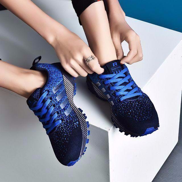 スニーカー シューズ 青 メンズ レディ^s0う メンズの靴/シューズ(スニーカー)の商品写真