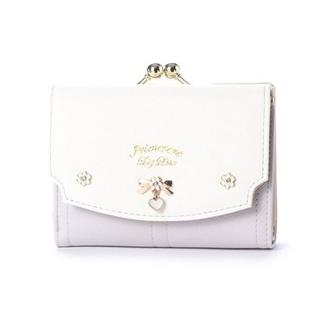 リズリサ(LIZ LISA)のプリムヴェール リズリサ リボンブローチ付き配色 がま口折財布(財布)