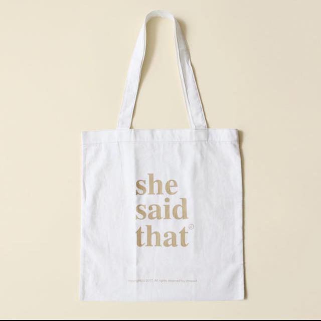 STYLENANDA(スタイルナンダ)の新品 she said that  shesaidthat  ロゴトートバッグ レディースのバッグ(トートバッグ)の商品写真