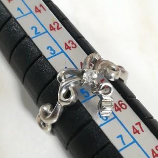シルバーリング 【5号】925 silver 蝶々 ピンキーリング(リング(指輪))