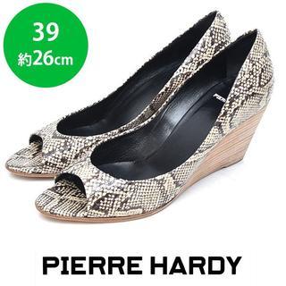 ピエールアルディ(PIERRE HARDY)の美品❤️ピエールアルディ ヘビ柄 パイソン ウェッジパンプス 39(約26cm)(ハイヒール/パンプス)