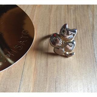 ツモリチサト(TSUMORI CHISATO)のツモリチサト ネコクローバーのゴールドリング 指輪 (リング(指輪))