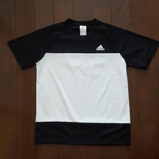 アディダス(adidas)のadidas シャツ 黒×白(ウェア)