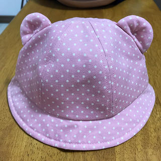 アカチャンホンポ(アカチャンホンポ)のクマ耳 帽子 42cm ピンク(帽子)