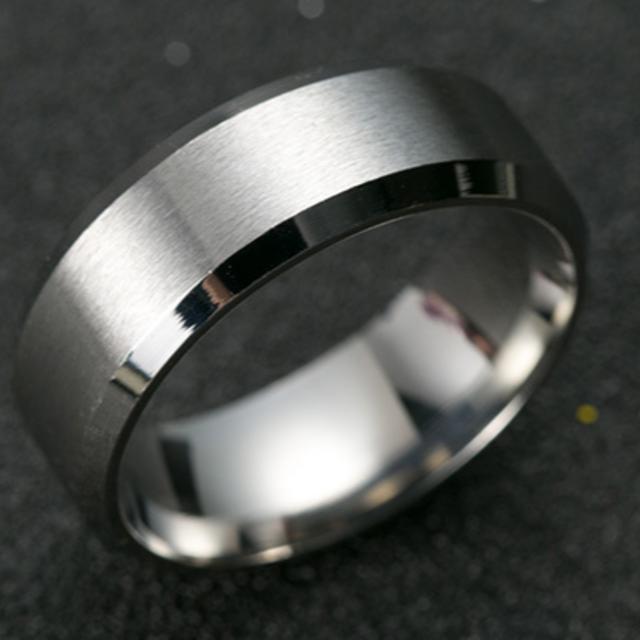 チタンブラックリング (シルバー) レディースのアクセサリー(リング(指輪))の商品写真