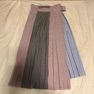 レディアゼル(REDYAZEL)のREDYAZEL カラーブロックプリーツスカート(ひざ丈スカート)