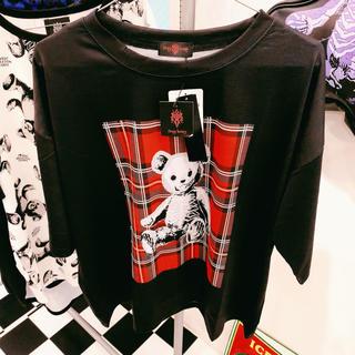 ファンキーフルーツ(FUNKY FRUIT)の☆★DrugHoney★☆FUCKスケルトンテディ総柄Tシャツ(Tシャツ(半袖/袖なし))