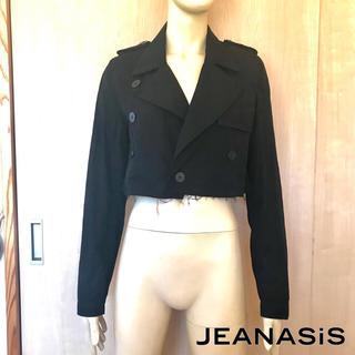 ジーナシス(JEANASIS)の【JEANASIS】トレンチ風ショートジャケット/ブラック/size:L(その他)