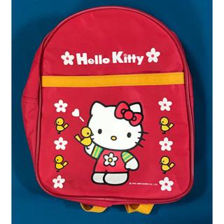 ハローキティ(ハローキティ)のキティ リュック (赤色) HelloKitty(リュックサック)