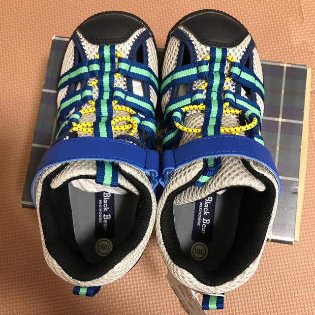 mikihouse(ミキハウス)のミキハウス ブラックベア サンダルシューズ 19cm 新品タグ付 キッズ/ベビー/マタニティのキッズ靴/シューズ (15cm~)(サンダル)の商品写真