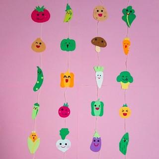 壁面飾り 野菜ガーランド 野菜壁面(ガーランド)