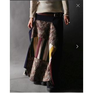 アンティカ(antiqua)の美品 antiqua デザインスカート(ロングスカート)