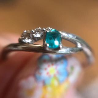 驚異の銅含有率4.60% ネオンブルー強い!パライバトルマリンリング(リング(指輪))
