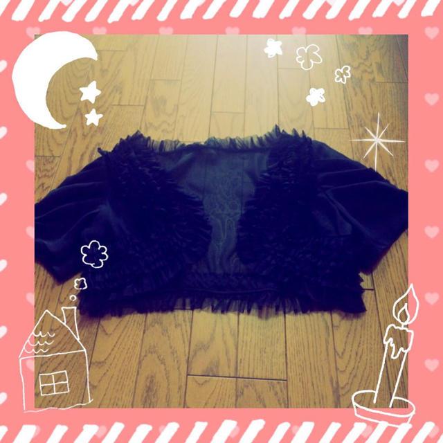 ブラック ボレロ レディースのフォーマル/ドレス(その他)の商品写真