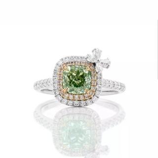 GIA♡リボンL.G-Yダイヤモンドリング(リング(指輪))