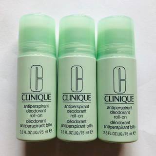 クリニーク(CLINIQUE)の新品 未開封 クリニーク デオドラント ロールオン 3本セット(制汗/デオドラント剤)