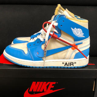 ナイキ(NIKE)のOFF-WHITE NIKE AIR JORDAN 1 UNC the ten(スニーカー)