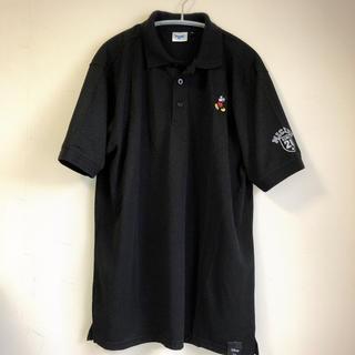 Disney - ディズニー ミッキーマウス ポロシャツ ワンポイント刺繍 黒