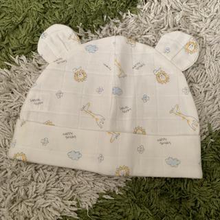 アカチャンホンポ(アカチャンホンポ)の新品未使用 新生児帽子 モスリン素材 40〜42cm(帽子)