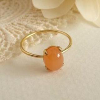ピンクムーンストーン 指輪 10号(リング(指輪))