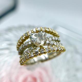 K18 Pt900 ダイヤモンド メレダイヤ リング 約11号 19-5926(リング(指輪))
