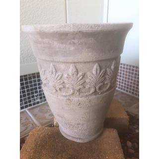 陶器鉢 アンティーク丸型ハイポット小サイズ(プランター)