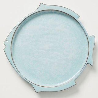 アンソロポロジー(Anthropologie)のアンソロポロジー お魚のサイドプレート ブルー ポルトガル製(食器)