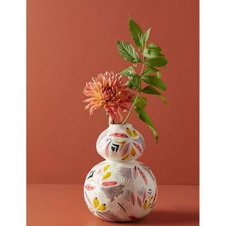 アンソロポロジー(Anthropologie)のアンソロポロジー 花瓶 フラワーベース 白 オブジェ(花瓶)