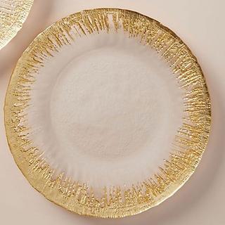 アンソロポロジー(Anthropologie)のアンソロポロジー ディナープレート ゴールド ガラス トルコ製(食器)