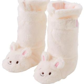 ミキハウス(mikihouse)のミキハウス ブーツ うさぎ ルーム ファースト 靴 秋 冬 ファー ホワイト(ブーツ)