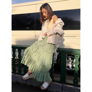 フレイアイディー(FRAY I.D)のフレイアイディー コットンティアードスカート完売(ロングスカート)