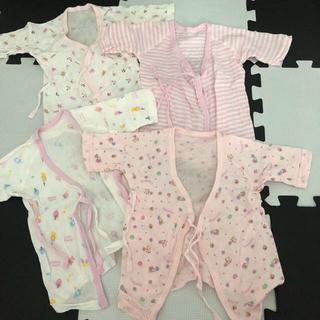 西松屋 - 新生児 肌着 新品未使用 女の子 ピンク キティーちゃん 5枚セット