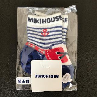 ミキハウス(mikihouse)のミキハウス  デッキシューズ柄マリンソックス 靴下(靴下/タイツ)