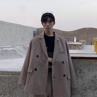 韓国ファッション メンズ ジャケット モード ストリート(テーラードジャケット)